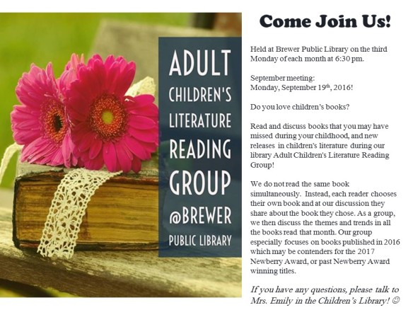 2016 September Children's Literature Group Flyer