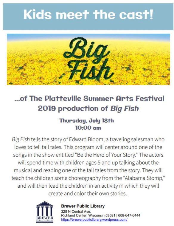 Big Fish flyer